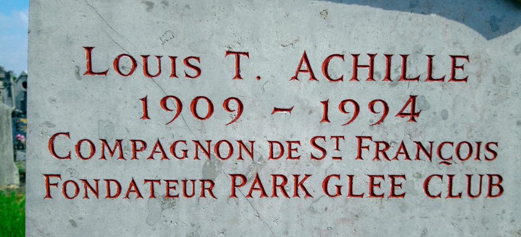 stèle funéraire de Louis Thomas ACHILLE (détail)