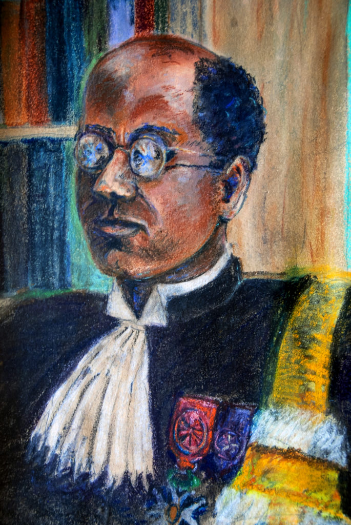 portrait au pastel de Louis ACHILLE premier agrégé noir