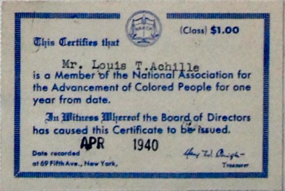 adjésion à la NAACP par LTA - 1940