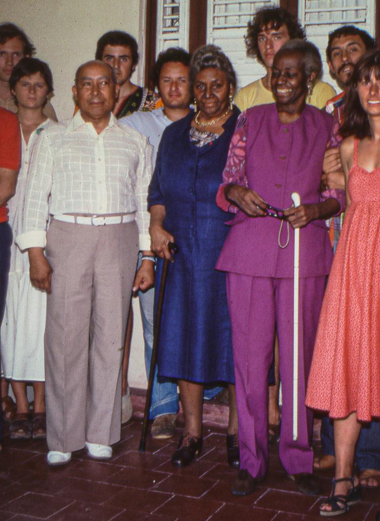 Louis Thomas ACHILLE et deux de ses cousines Nardal au Morne-Rouge - 1978