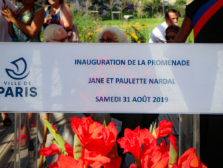 pupitre orateur lors de l'Inauguration de la Promenade Paulette et Jane Nardal