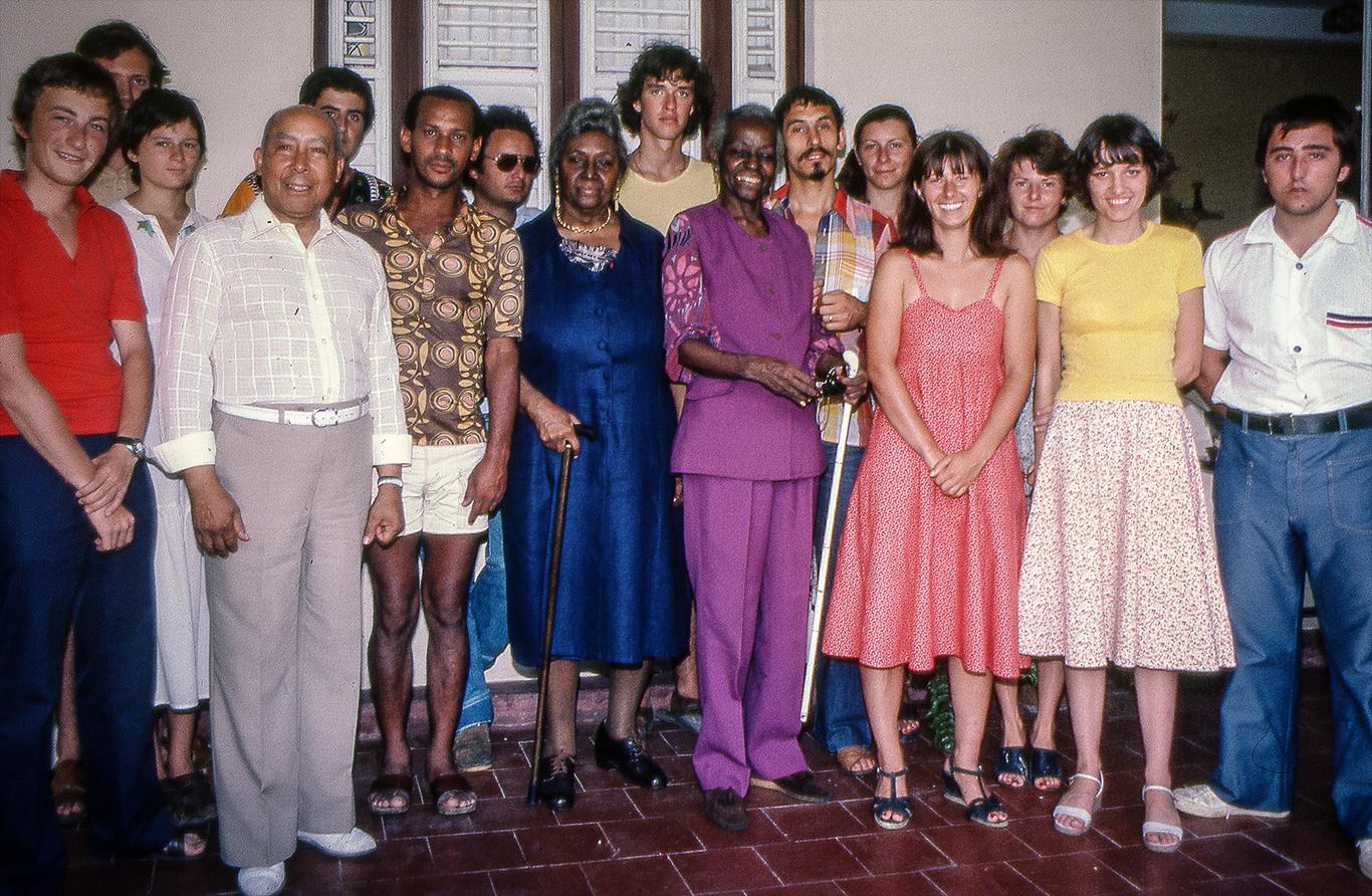 le oark Glee Club chez les Soeurs Nardal au Morne-Rouge (Martinique) - août 1978