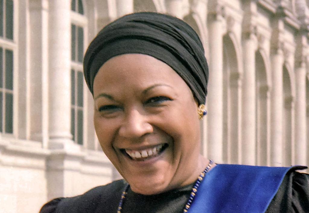 portrait de Christiane Eda-Pierre en 1984 par Louis Thomas ACHILLE