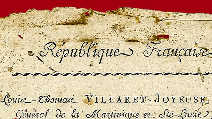 en-tête Colonie de la Martinique